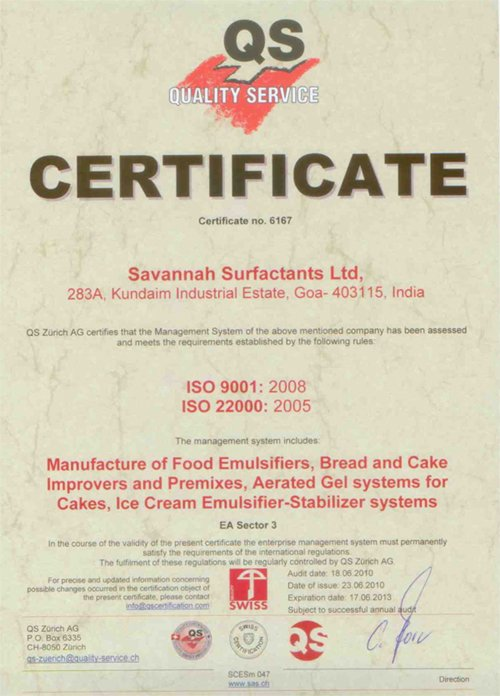 FSSC 22000 Certification, ISO 9001: 2008, ISO 22000: 2005